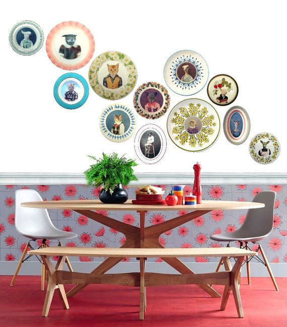 #wall #plates #decorated