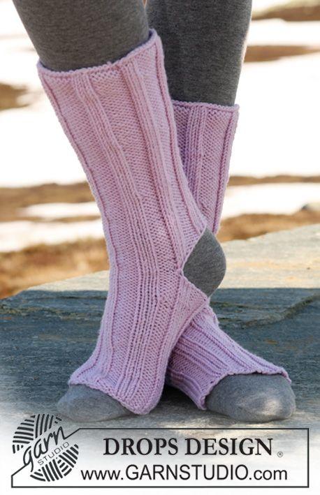 Chaussettes de yoga DROPS en «Merino Extra-fine». ~ DROPS Design