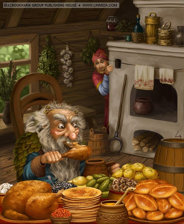 Oldster's dinner by LiaSelina on deviantART