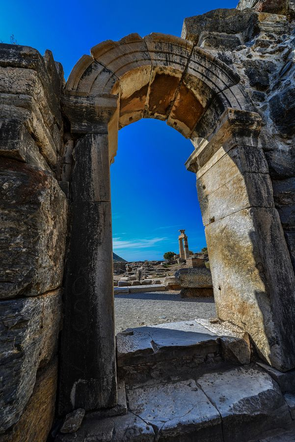 Gateway to the ancient Turkish city Ephesus, Turkey