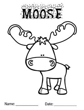 Moose Coloring Page School Ideas Coloring Pages Winter Fun
