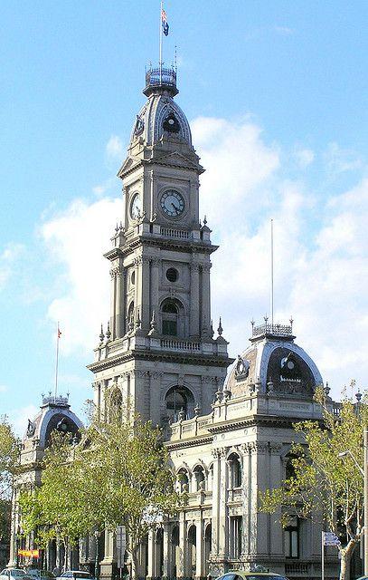 Collingwood Town Hall & Post Office building, Hoddle Street, Collingwood, Melbourne. Built 1885-90. Architect: G Johnson.