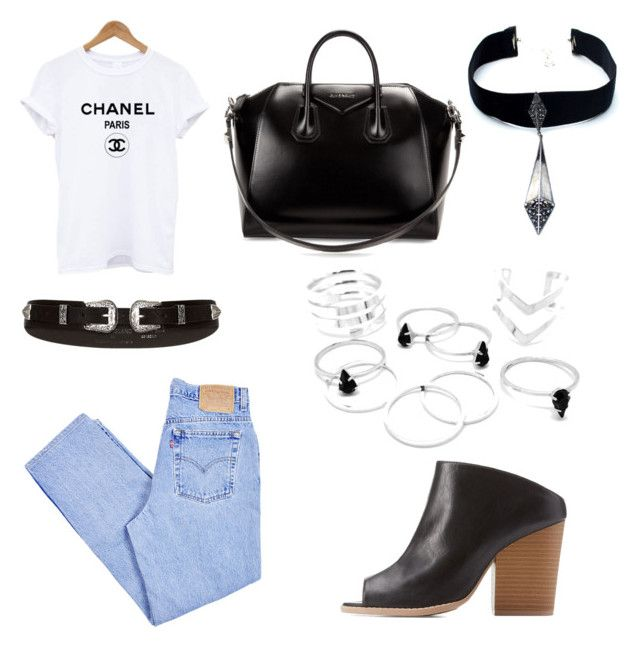 """Vintage Levis"" by j-elizabeth-cha on Polyvore featuring Levi's, Qupid, River Island, Child Of Wild, Givenchy and vintage"