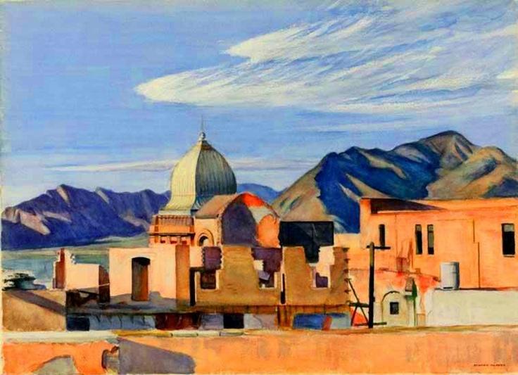 "Edward Hopper (1882-1967) ""Construction in Mexico"" (1946)"