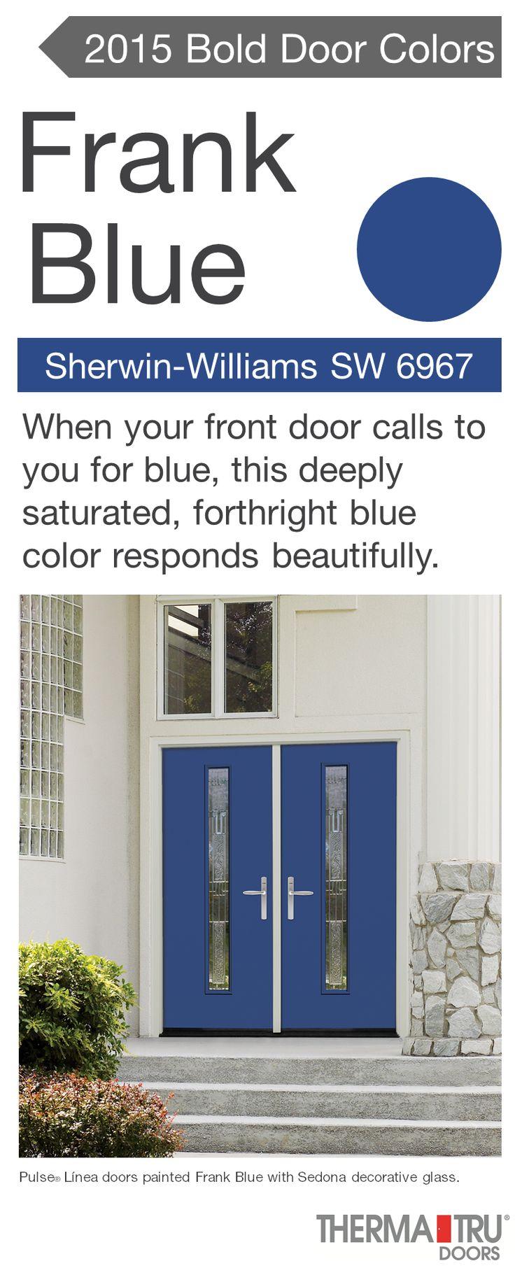 Pulse Linea fiberglass door painted Frank Blue   one of the hot door colors  for 201535 best 2016 Front Door Color Trends images on Pinterest   Front  . Front Door Color Trends 2014. Home Design Ideas