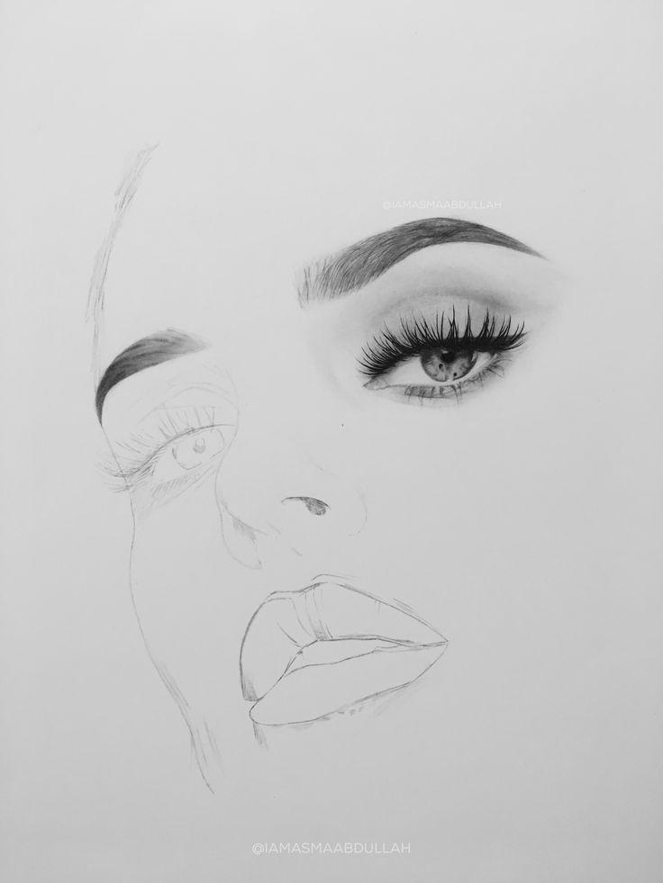 Portrait of chloe morello in progress by asma'a abdullah.   #drawing #portrait #art #artist #charcoal  #hyperrealisticart #photorealisticart