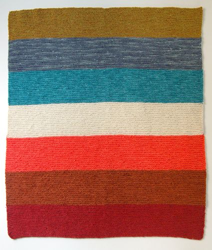 Easy Striped Baby Blanket Knitting Pattern : Purl Soho Kit: The Super Easy Baby Blanket! - The Purl Bee - Knitting Crochet...