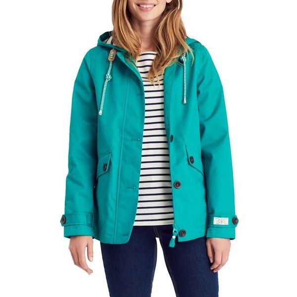 Joules Right as Rain Coast Waterproof Jacket, Emerald Green ($74) ❤ liked on Polyvore featuring outerwear, jackets, emerald green, water proof jacket, waterproof jacket, water resistant hooded jacket, joules jackets and pocket jacket
