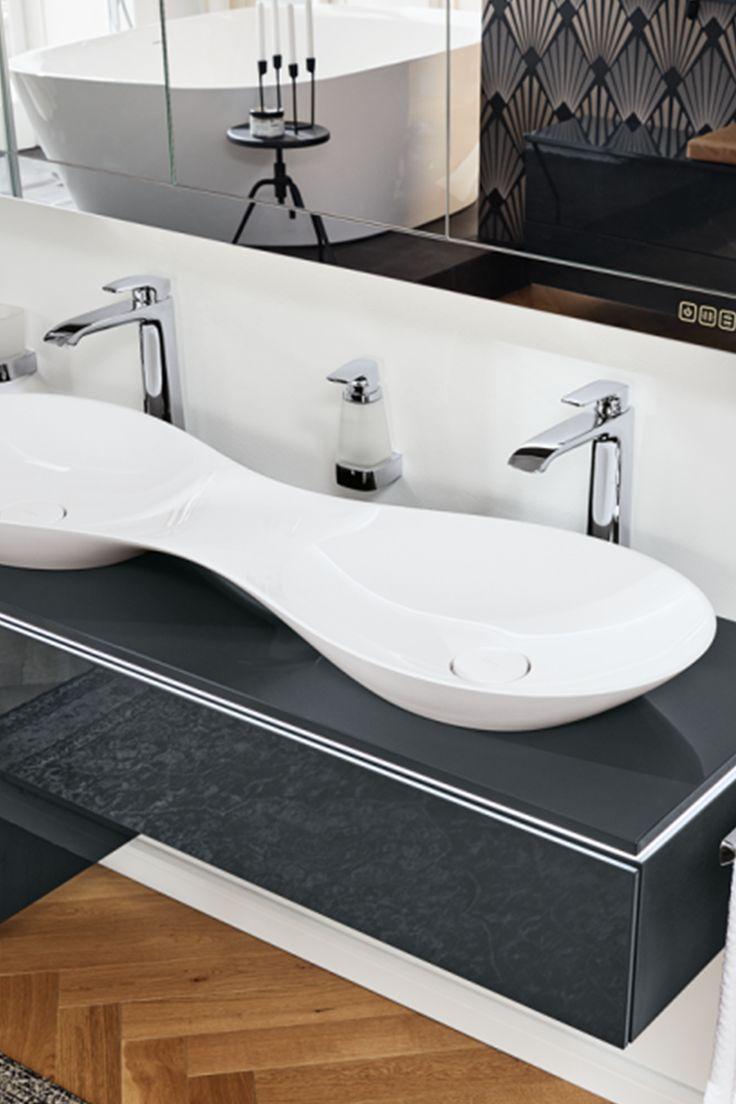 Fur Luxuriose Badezimmer Doppelwaschschale Von Vigour Vogue In 2020 Waschbecken Luxurioses Badezimmer Waschbecken Bad
