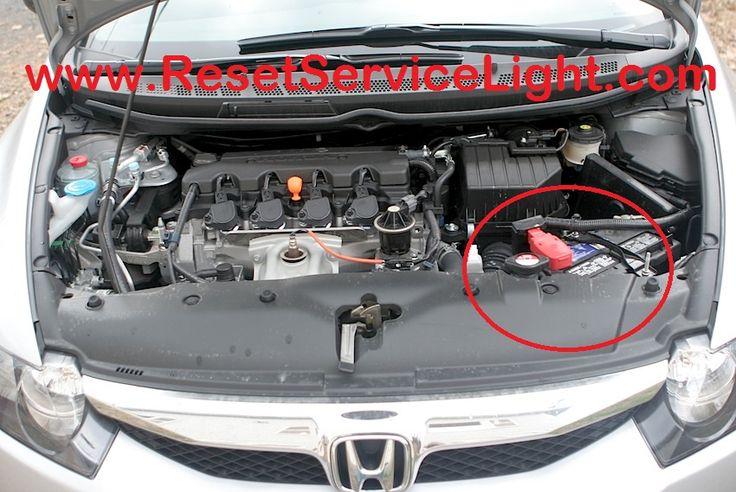 Replace  battery Honda Civic  http://resetservicelight.com/change-battery-honda-civic-2006-2011/