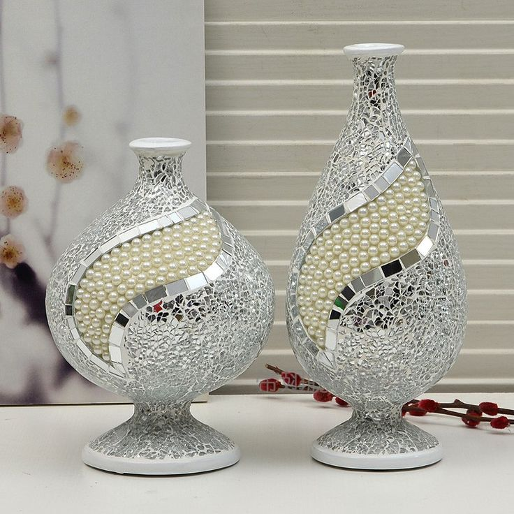 resultado de imagen para jarrones de vidrio con mosaico deco pinterest vase. Black Bedroom Furniture Sets. Home Design Ideas