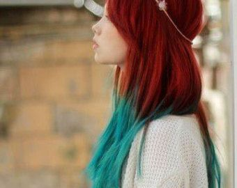 ombre red and blue hair stuff pinterest ombre red