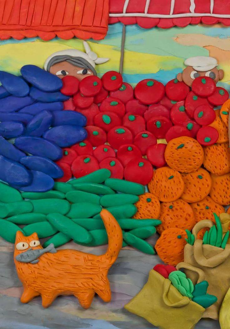 Пластилиновые картины Татьяны Лазарюк