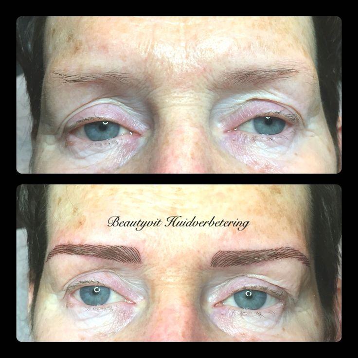Permanente make-up 3D Hairstroke. Heeft u ook bijna geen wenkbrauwen ? Wist u dat uw wenkbrauwen de kapstok van het gezicht zijn? Zonder wenkbrauwen vallen u ogen bijna niet op ook spreekt u gezicht veel minder. Kijk voor meer informatie op   http://www.beautyvit.nl/Specials/Permanente-make-up/  Beautyvit Huidverbetering  Dreef 10 Breda 076-5223838 info@ beautyvit.nl www.beautyvit.nl