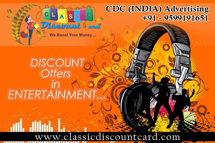 Join us our Capital Plus Discount Card and get Discount offers in Entertainment
