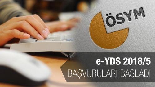 e-YDS 2018/5 Başvuruları Başladı