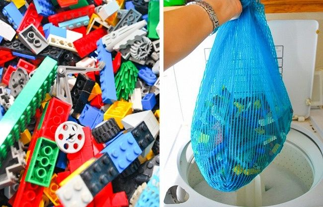 How to wash kid's toys:  Place all the toys in a net washbag, and clean them in the washing machine.