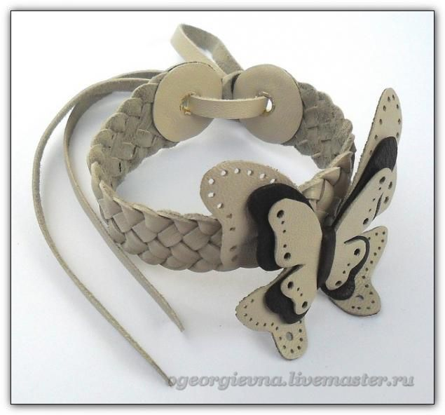 Комплект украшений из кожи - Ярмарка Мастеров - ручная работа, handmade