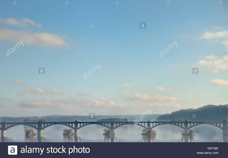 Columbia, Wrightsville PA bridge over the Susquehanna River on a Stock Photo, Royalty Free Image: 116326173 - Alamy