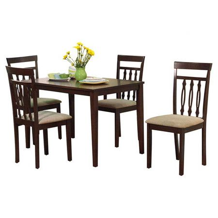 Piece Kitchen Table Set Expresso Finish