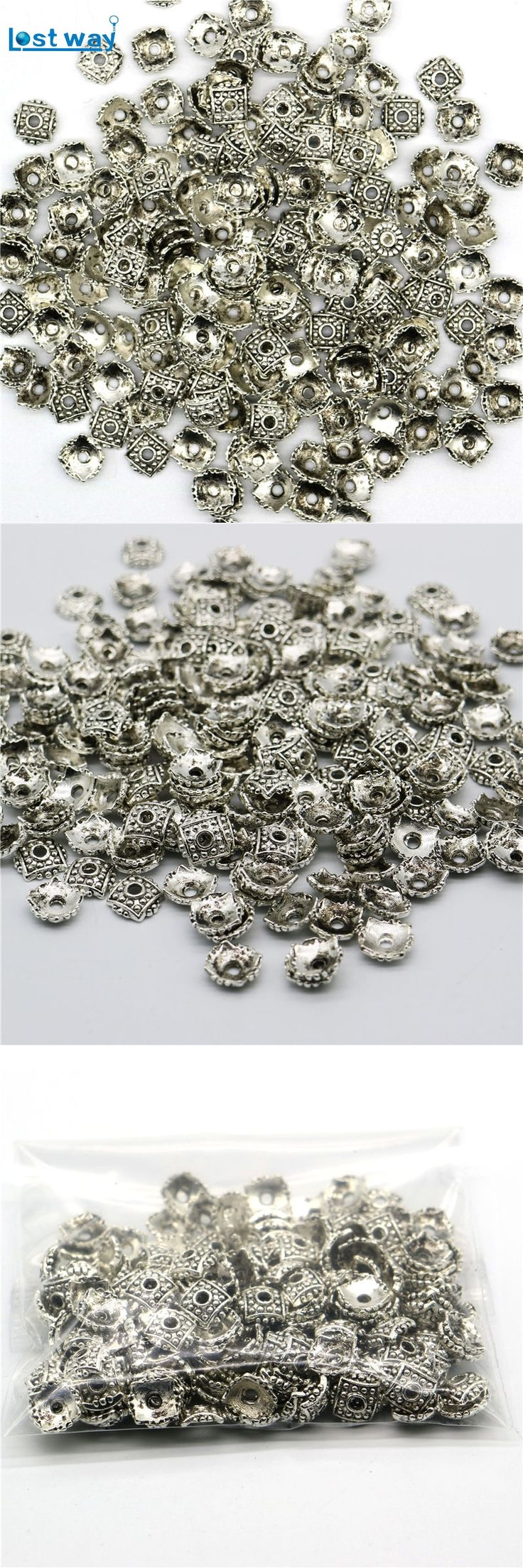 Wholesale 8mm 200pcs/lot Zinc Alloy End Caps Bead Caps Tibetan Silver Plated FlowerSpacer Beads Charms For Jewelry Findings