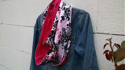 KajDom / Obojstranná šatka-ružová
