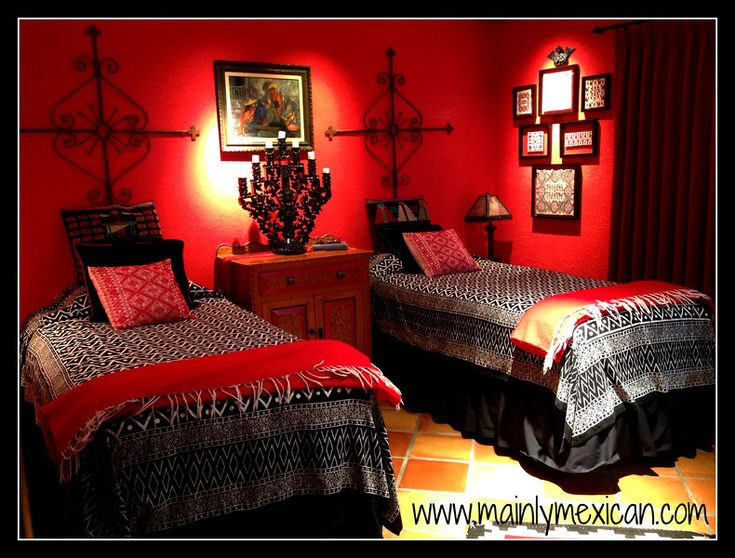 89 Best Mexican Bedrooms Recamaras Images On Pinterest Mexican Decorations Bedspread And