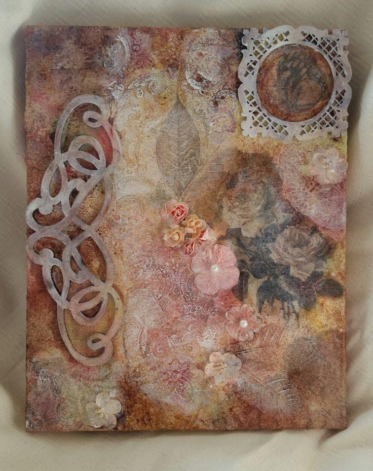 """Mixed Media on canvas - """"Shabby Spring"""""""