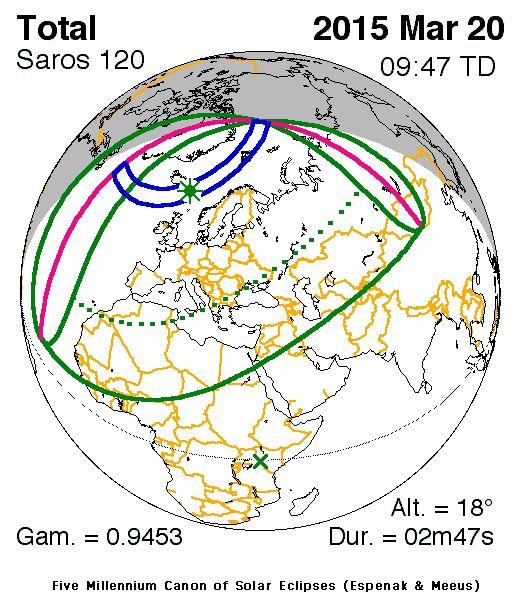 NASA website for Eclipse Information.