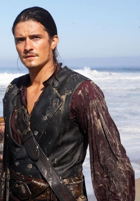Will Turner - Orlando Bloom always looks good when he is acting with water and heavy costumes. Not to mention the little bit of chest he has showing there.
