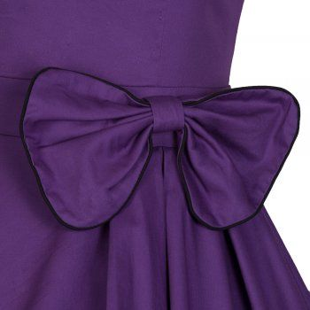 Grace Purple Cotton Swing Dress | Vintage Inspired Fashion - Lindy Bop