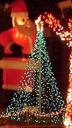 How to create an outdoor christmas tree from PVC pipe and Christmas lights