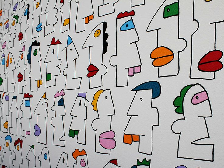 Thierry Noir - the first artists known to ever draw on the Berlin Wall