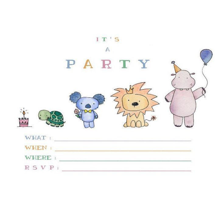 Party Animal 🍰🐢🐨🦁🎈digital version now available on the shop 💌 www.kenziecards.com