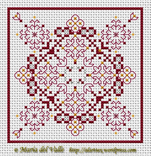 free chart biscornu cross stitch