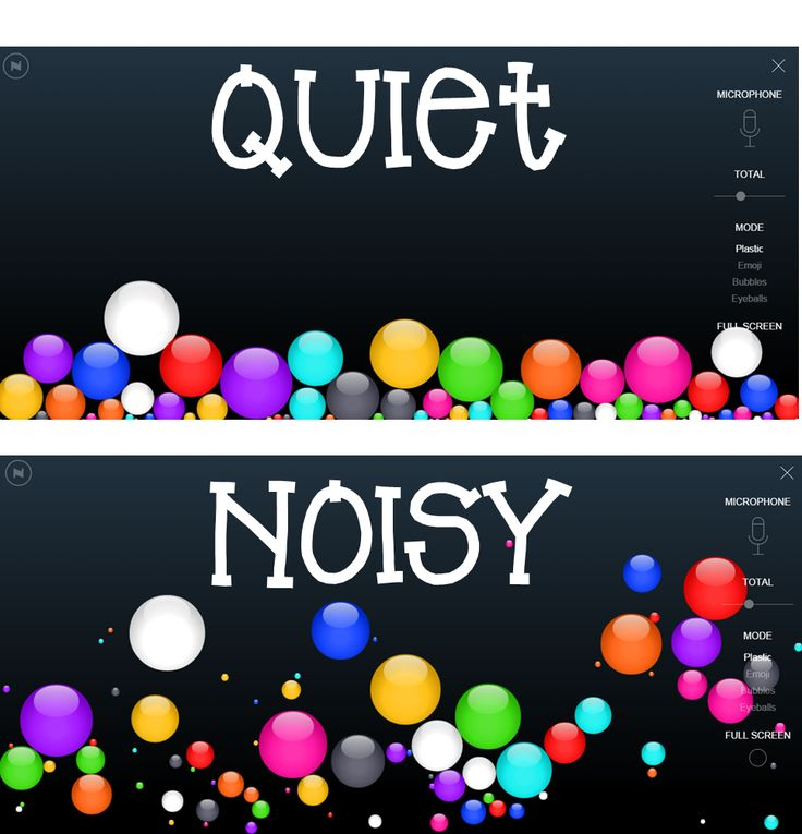 Monitor Classroom Noise Level with Virtual Bouncy Things - Hello Literacy