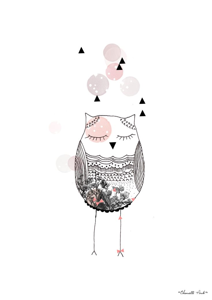 Chouette pink #poster