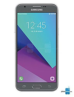 "Virgin Mobile Samsung Galaxy J3 Emerge, 5"" - No Contract Phone - Silver"