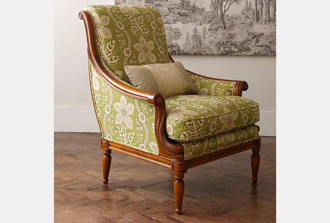 Stow Armchair In Zoffany Mayenne Olive Wesley Barrell