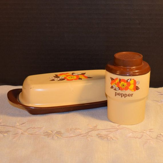 Sterlite Butter Pepper Set Vintage by ShellysSelectSalvage on Etsy