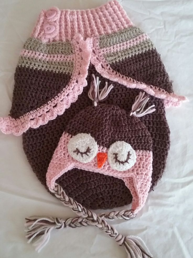 I enjoyed crocheting this owl newborn cocoon. I will try to link pattern soon, I'm still trying to learn how to do that.