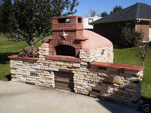 DIY Outdoor Brick Pizza Oven   Brick Oven Plans Outdoor Cooking Pizza Patio Party Ribs   eBay