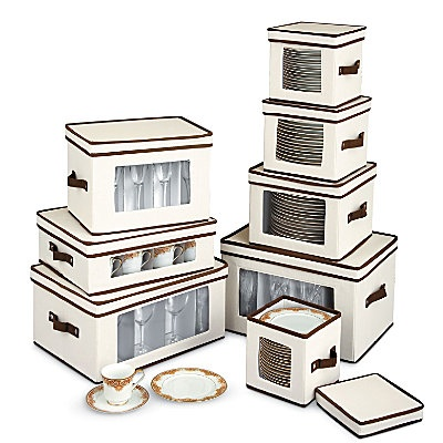Marvelous Protect Your Holiday Dinnerware Or Other Fine China In This Attractive  Canvas China Storage Cases. A See Thru Window On The Front Of The Fine  China Storage ...