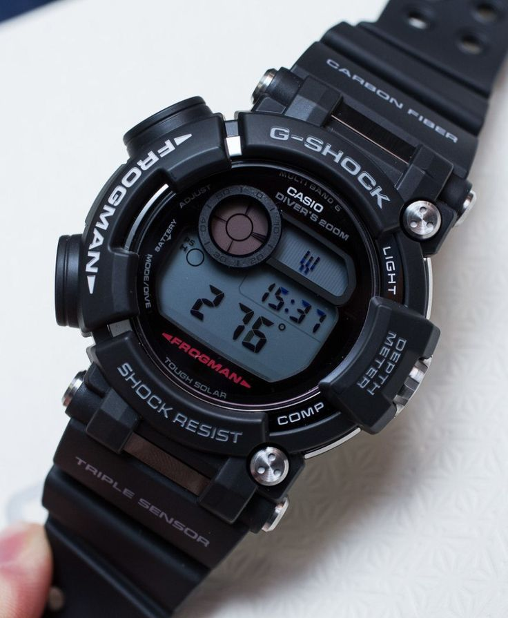 """Casio G-Shock Frogman GWF-D1000 Hands-On: The Ultimate Diving Tool Watch - by Ariel Adams - on aBlogtoWatch.com """"For Baselworld 2016, Casio has introduced one of the most impressively cool G-Shock watches in a while with the brand new model GWF-D1000 Frogman diver. Casio's premier serious diving G-Shock watch has retained everything we love about a Casio G-Shock and has grown into a serious diving computer. Casio has finally developed a neat-looking tool that modern divers can rely on..."""""""