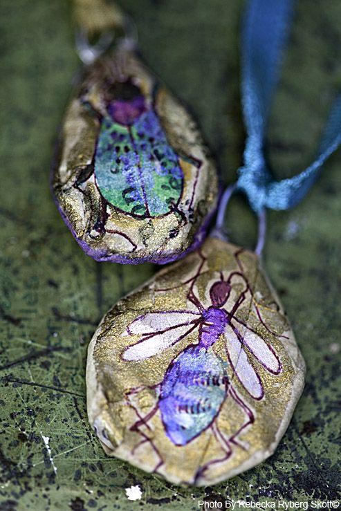 Necklaces made by talented artist Jone Hallmark