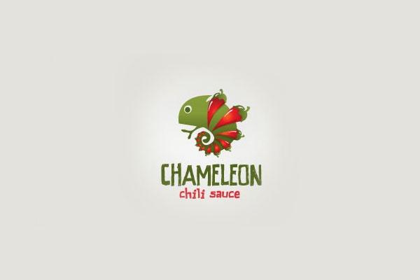 Chameloen Chili Sauce - 40 Amazing Logo Designs!