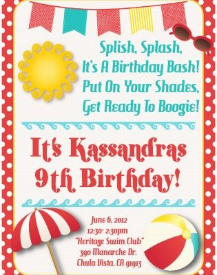 The 7 best images about Invitation on Pinterest Birthdays, Schools - best of invitation templates for beach party