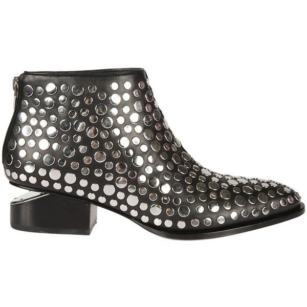Studded Kori Oxford Boots ($595) ❤ liked on Polyvore featuring shoes, boots, black, black leather boots, black shoes, black leather oxfords, polishing leather boots and black oxford boots