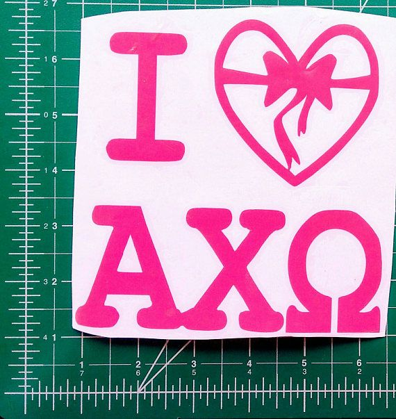 Check out this item in my Etsy shop https://www.etsy.com/listing/539526007/various-alpha-chi-omega-axo-vinyl-decals