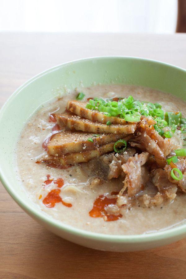豆乳担々麺 筍と豚バラ肉の甘辛炒めのせ by tomo | レシピサイト ...